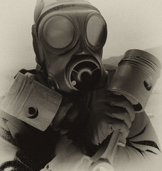 Open the Gate (psyberyeti) Tags: dark gate noir open mask gas piston gasmask macabre disturbing dunkel