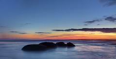 Dreamy Pastels (Didenze) Tags: california longexposure blue sunset orange seascape clouds rocks moody pastel explore dreamy sanclemente colorgradient canon450d didenze