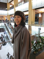 mom, with my new hat (Silly Jilly) Tags: japan tokyo tokyomidtown