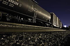 Lonely Train (Foto Fresh) Tags: railroad atlanta train canon ga georgia rocks tracks rail railway cargo boxcar csx norfolksouthern oilcar 550d t2i