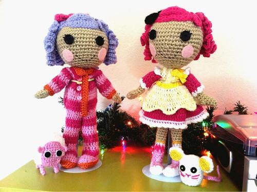 Amigurumi, crochet and sewing: free pattern lalaloopsy doll | 374x500