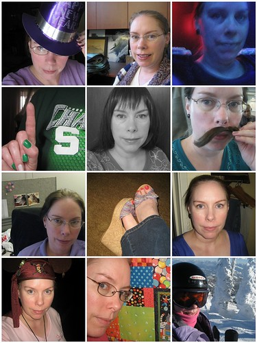 Monthly sampler from 2010's self portrait project