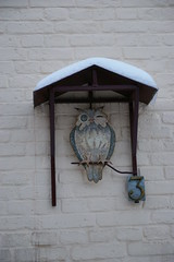 House number owl (fsteffenhagen) Tags: winter sign owl uckermark 2010 templin housenumber