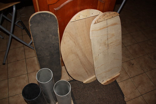 homemade balance boards / indoboards
