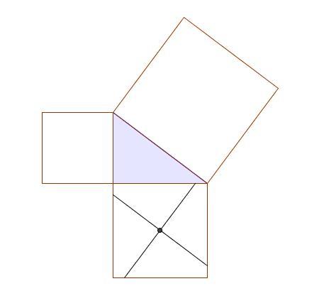 Paralela y perpendicular a la hipotenusa