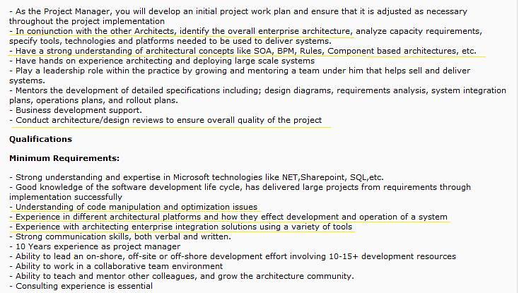 Wrong Project Manager Job Description
