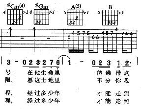 吉他譜 範例
