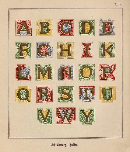 008- Medieval Alphabets and Initials 1886- F.G. Delamotte- Copyright 2006 illuminated-book.com& libros-iluminados.com