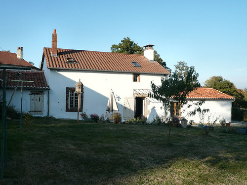 Back of house in evening