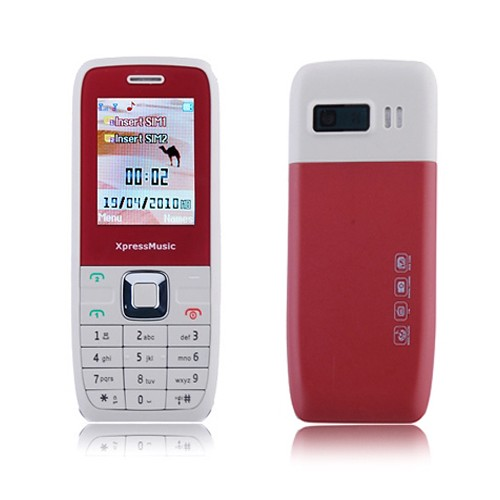 JINCEN E2 Low Price Dual Card Quad Band Dual Torch Bluetooth Ultra Thin Cell Phone Red