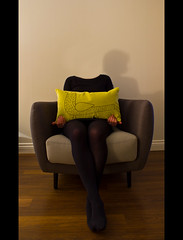 301/365 [headless girl and the becky cushion] (Nat Nunn) Tags: shadow portrait selfportrait headless chair surreal 365 cushion project365