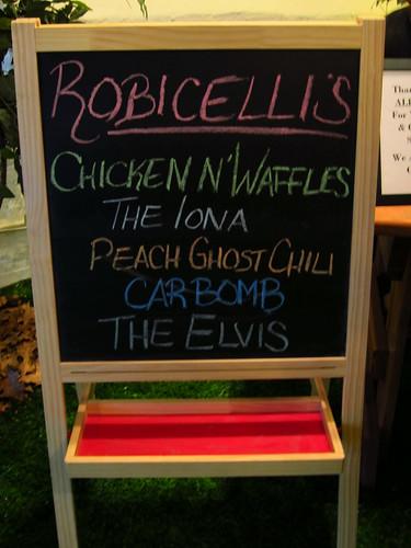Robicelli's Menu