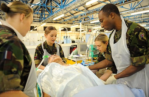 Members of the Joint Force Medical Group Treat an Exercise Casualty