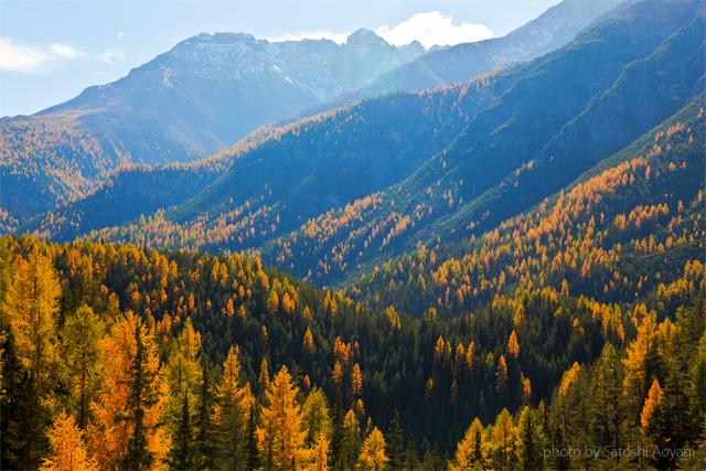 エンガディン地方の秋の絶景