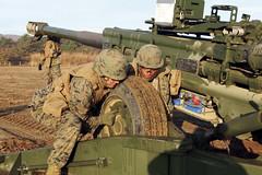 Artillery battery sets scene for training (DVIDSHUB) Tags: japan usmc military artillery marines iiimef