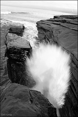 reflections in motion (Shot In The Blue) Tags: water rocks sandiego wave cliffs rush surge sunsetcliffs watercave blackwhitephotos dwcffmotion