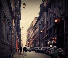 All roads lead to Rome (Violet Kashi) Tags: street sunset italy rome roma texture photography lights cafe italia coffeeshop piazzadispagna obelisk lanterns lamps picnik   viasistina