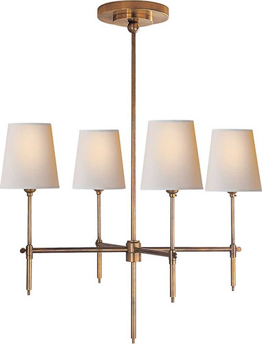 lighting, circa lighting, bryant small chandelier, antique brass, $360 2