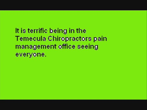 temecula chiropractors pain management