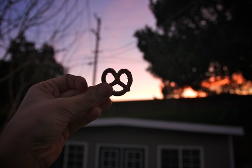 pretzel + sunset