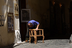 Chair maker (aspicio) Tags: prague czechrepublic chairmaker