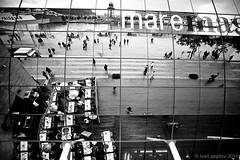 IMG_8684 (ivan.peplov) Tags: barcelona street sea people bw reflection monochrome port mirror bcn catalonia catalunya mau cataluña maremagnum vell catalogne