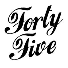 fortyfive_blackandwhite_logo