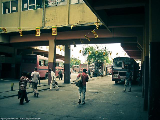Автобусная станция в Коломбо