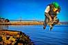 Flying over the Bay (Jaughn Bearen) Tags: flying saw nikon mask baybridge skateboard onedrop d90 jonathanbaron jaughnbearen