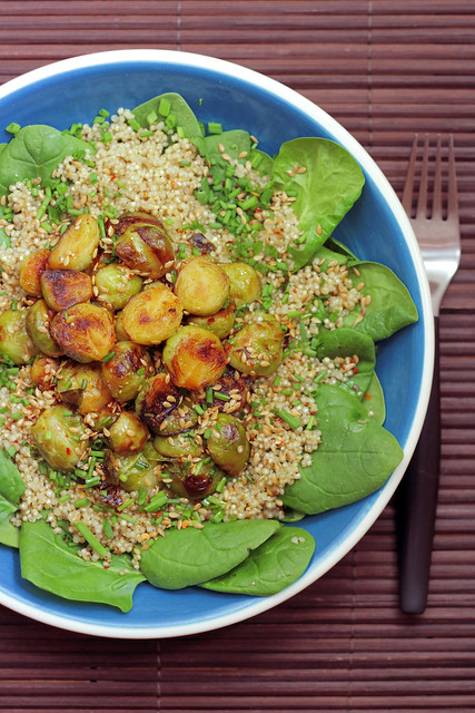 Brussel sprouts, Quinoa and Spinach