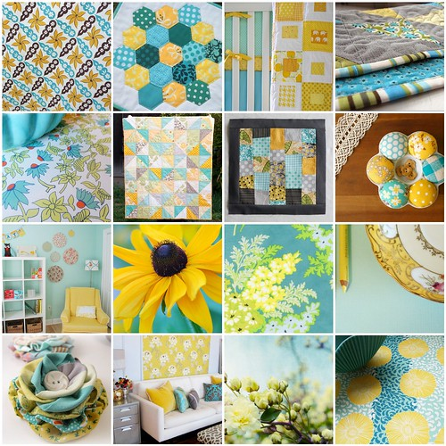 Aqua and yellow inspiration