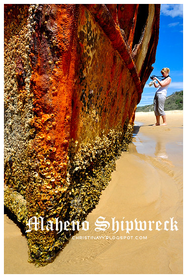 Fraser Island: Maheno Shipwreck on 75-Mile Beach