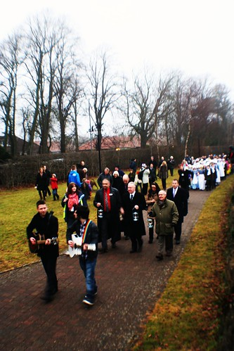 Community procession at Alloway, Scotland
