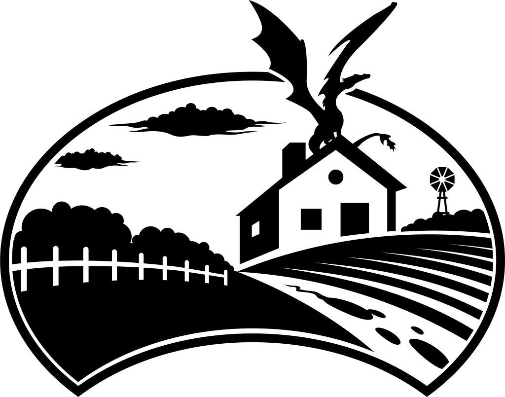 Barn Silhouette Drawing Farm Vector Stock Illustration