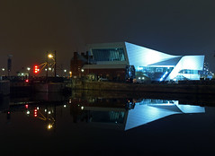 On reflection (Mr Grimesdale) Tags: liverpooldocks merseyside liverpoolmuseum canningdock stevewallace liverpoolatnight mrgrimesdale reflecfion