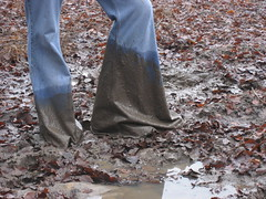 muddy bellbottoms 1 (eliseoutof) Tags: wet mud dirty jeans flare oversize bellbottoms