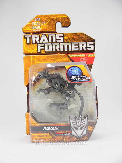 Transformers Ravage HftD Legends - caja