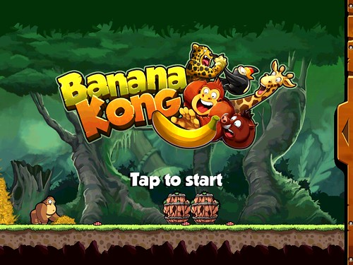 Banana Kong Main Menu: screenshots, UI