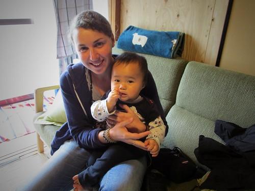 Avec Akito, Takoname, Japon