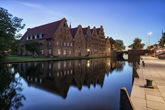 The Salzspeicher (salt storehouses) of Lbeck, Germany (langtimoalex) Tags: salzspeicher luebck lbeck germany salt storehouses upper trave river lbecker obertrave sony alpha 7 mk ii zeiss loxia 21mm timo lang long exposure