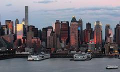 Sunset on west Manhattan_4749 (ixus960) Tags: nyc newyork america usa manhattan city mégapole amérique amériquedunord ville architecture buildings nowyorc bigapple