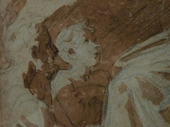 PARMIGIANINO - La Vierge à l'Enfant bénissant Deux Hommes agenouillés (Louvre INV6384) - Detail -d (L'art au présent) Tags: drawing dessin disegno personnage figure figures people personnes art painter peintre details détail détails detalles 16th 16e dessins16e 16thcenturydrawings 16thcentury detailsofdrawing detailsofdrawings croquis étude study sketch sketches louvre france italy parmiggianino parme parma sanguine redchalk viergeàlenfant madone madona jesus christ bible child virgin vierge femme woman beauty beauté élégant elegant elegantwoman man men hommes jeunegarçon littleboy garçon boy francescomazzola francesco mazzola leparmesan parmesan dessins museum