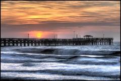 Springmaid Pier Sunrise - Explore 10/09/2016 (DigitalManSKL) Tags: hurricane matthew springmaid hdr sunrise digitalmanskl damage storm surge waves fishing pier myrtle beach south carolina sc scenic seascape ocean