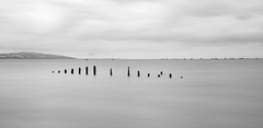 Bobbing Boats bnw (cathbooton) Tags: 10stopfilter blackandwhite bnw seascape riverdee boats caldy wirral canonusers canon6d canoneos longexposure bigstopper leefilters