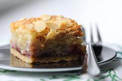 Square (Pittypomm) Tags: flickrfriday square bakewell tart dessert cake fork plate food almond slice