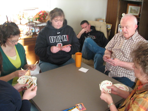 Thanksgiving - playing hearts