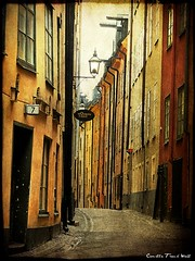 Old Town Stockholm (Milla's Place) Tags: street buildings sweden stockholm gamlastan oldtown textured tatot absolutegoldenmasterpiece skeletalmess magicunicornverybest elitegalleryaoi
