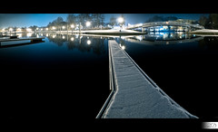 Marina's Reflection (HD Photographie) Tags: snow france night port marina landscape bride high dynamic pentax explorer ardennes explore sp ii di if pont neige af paysage tamron range nuit hdr ld plaisance k7 charlevillemzires f3545 1024mm asperical tamronspaf1024mmf3545diiildaspericalif