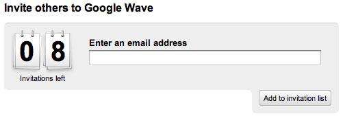 Invitaciones para Wave