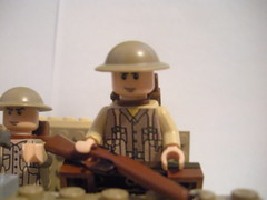 ww1 trench (BrutalCroat42) Tags: army war military brodie lee captain cannon ww2 british ww1 1914 invasion enfield 1918 brickarms ww2legoupdate